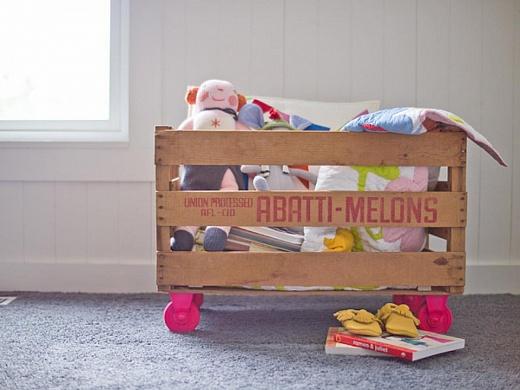Ящик для игрушек своими руками с фото