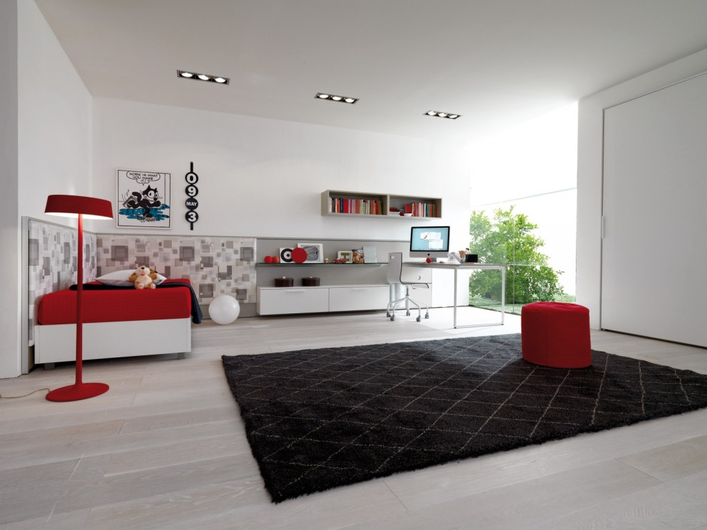 furniture-interior-decoration-ccontemporary-white-teens-bedroom-design-with-cool-contrasting-red-furniture-and-dark-black-fur-rug-for-youth-room-decoration-ideas-amazing-wooden-furnitures-with-calm-w.jpg
